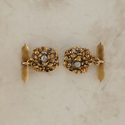 Vintage Ornate Diamond Cufflinks 18ct Gold