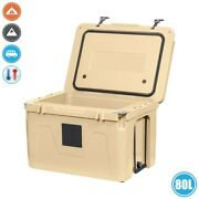 80l Ice Cooler Cool Box Insulated Thermal Portable Travel Camping Boat Truck Tan