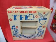 Vintage J.chein Metal Litho Tin 13 Toy Snare Drum 177 Independence Day Nos