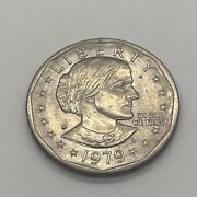1979 Susan B Anthony 1 One Dollar Coin Ungraded/circulated 4