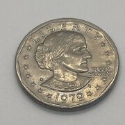 1979 Susan B Anthony 1 One Dollar Coin Ungraded/circulated 5