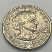 1979 Susan B Anthony 1 One Dollar Coin Ungraded/circulated 6