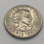 1979 Susan B Anthony 1 One Dollar Coin Ungraded/circulated 7