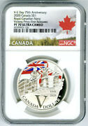 2020 1 Canada Silver V-e Ve-day Navy Victory Privy Ngc Pf70 Ucam Proof Dollar