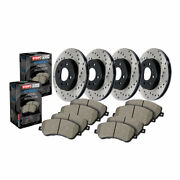 Stoptech For Audi A6 Quattro 17 18 Front/rear Brake Rotor And Front/rear Brake Pad
