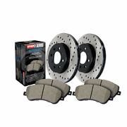 Stoptech For Audi S7 2015-2016 Axle Pack Front Rotors + Pads Package