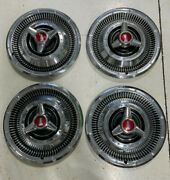 1966 Plymouth Satellite 14-inch Spinner Hubcaps Hub Caps Beautiful Condition
