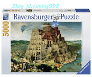 Ravensburger Jigsaw Babel Tower Art 5000 Piece Puzzle Rare New Sealed In Stock