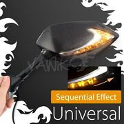 Vawik Lucifer Carbon Mirror With 2tone Serial Led Wider View Fits M8 1.25p Vespa