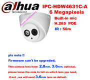 Dahua Ipc-hdw4631c-a 6mp 50m Support Poe Built-in Mic Network Indoor Ip Camera