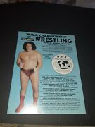 W.w.f. Championship Wrestling Program Andre The Giant March 14,1982 Flair,martel