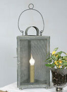 Country Farmhouse Triangle Metal Screen Lamp Vintage Looking Barn Roof Color