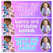 Doc Mcstuffins Personalised Birthday Banner - Birthday Party Banner - 3x1 Ft