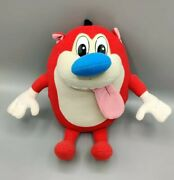 Vintage Rare 1992 10andrdquo Ren And Stimpy Show Rude Toot Stimpy Plush Toy Doll Mattel