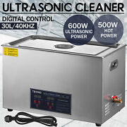 30l Liter Ultrasonic Cleaner Stainless Steel Industry Heated Heater W/timer