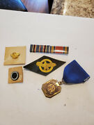 Lot Of Wwii Us Military Patches Medal Pins Ribbon Womens Reserve Marine Corps
