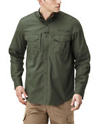 Cqr Menand039s Long Sleeve Work Shirts Outdoor Ripstop Military Tactical Shirts