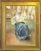 Large Original Watercolor By National Academician George Wharton Edwards Na