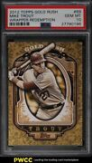 2012 Topps Gold Rush Wrapper Redemption Mike Trout Rookie Rc 89 Psa 10 Gem Mint