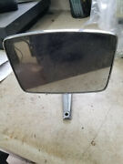 Chrome Side View Glass Mirror - Fits 66-77 Ford Bronco And 67-79 Truck