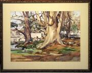 Betty Lou Schlemm Large Original Watercolor Andndash Washday In A Mexican Village