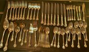 Towle Old Master 925 Sterling Silver 61 Piece Flatware Set