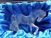 Lalique Large Cheval Stallion Mistral Horse Rare Signed Outstanding