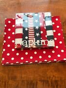 Harvey And Strait 6 Red White And Blue Big Buffet Napkins And 6 Place Mats