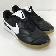 Nike Premier 2 Ic Black White Gum Indoor Soccer Shoes Menand039s Size 10.5 Ao9376-010