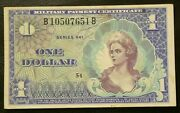 Us Military Payment Certificate Currency 1 Series 661 1968 6330