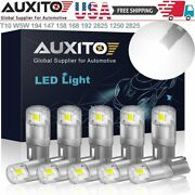 Auxito 10x 194 Led Bulbs 6000k Pure White 3020 T10 W5w 192 168 2825 Replacement