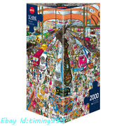 Heye Busy Railway Station Carnival 2000piece Adult Stress Relief Puzzles Toy New