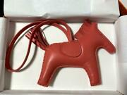 Hermes Rodeo Mm Size Charm Rose Azalee Pink Horse Womenand039s Rare From Japan Used