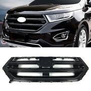Glossy Black Front Bumper Upper Air Inlet Grille Fit For 2015-2018 Ford Edge