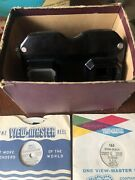 Vintage Sawyer 1950s -1960s View-master 7 Reels W/viewer And Case
