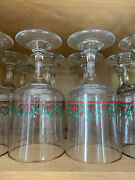 Vintage 1987 Arbyand039s Holiday Holly Berry Beverage Glasses - 12 Oz - Set Of 12
