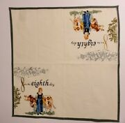Williams Sonoma 12 Days Of Christmas Cloth Cotton Napkins 20x20 - 8th Day Only