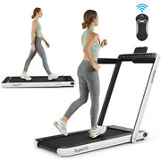 2-in-1 Electric Motorized Health And Fitness Folding Treadmill With Dual Displa