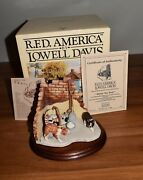 Lowell Davis Hittinand039 The Trail Cats And Kittens In Barn Corner Coa 116/1250 Le