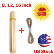 55 Bamboo Sticks Trellis Stakes Garden Plants Support Floral Picks Bbq Skewers