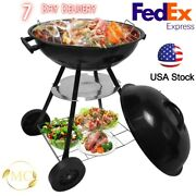New Portable Bbq Grill Jumbo Kettle Barbecue Smoker Grills Charcoal With Wheels