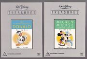 Walt Disney Treasures, Volume1 And 2 + Mickey Mouse + Silly Symphonies, Box Sets.