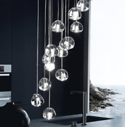 Chandelier Lights Transparent Crystal Ball Household Staircase Glass Lighting