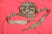 Original Wwi Imperial Russian Maxim Mg Canvas And Brass Ammo Belt . 1915 .