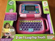 Leapfrog 2 In 1 Leaptop Touch - Pink Kids Laptop 2+ Portable New In Box Nib