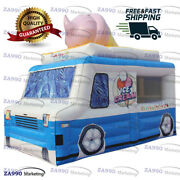 16x10ft Inflatable Ice Cream Truck Concession Stand Tent Booth With Air Blower