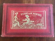 Rare 1860 The Story Of Mr. Old Wood By Topffer French Illustrations, Paris, 1st
