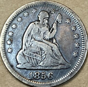 1856 Seated Liberty Quarter Dollar Xf Extra Fine Details