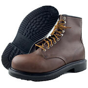 Mens Red Wing Boots 10 E3 Eee Safety Toe 8 Inch Supersole Leather Oil Resistant