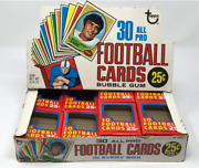1970 Topps Empty Football Cello Display Box With 20 Empty Cello Pack Boxes